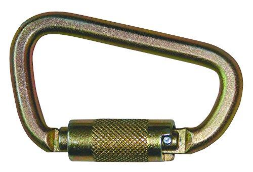 FallTech 8445 Steel Carabiner - Compact Twist Lock, 7/8