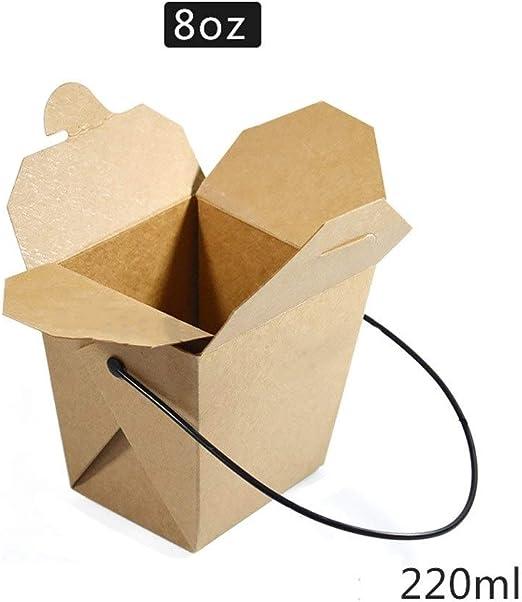 Fiambrera desechable YC Caja de Embalaje desechable de Papel Kraft ...