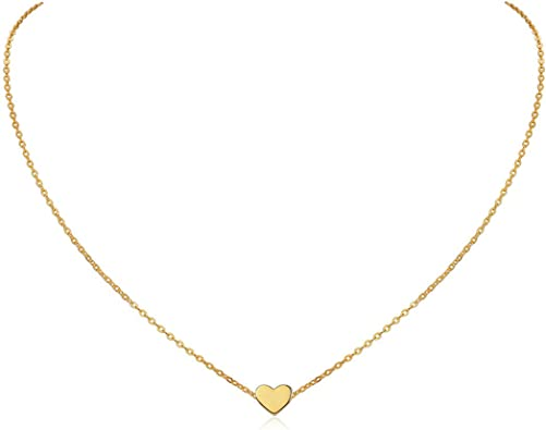 Delicate HeartMoonStar Necklace for Women Girls 925 Sterling Silver18K GoldRose Gold Plated Engravable Minimalist Jewelry Gifts 40+5cm(Extended)