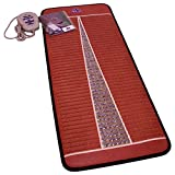 Far Infrared Amethyst Mat Midsize (59''L x 24''W) - Negative Ion - FIR Therapy - Natural Amethyst - FDA Registered Manufacturer - Adjustable Temperature Setting - Hot Crystal Heating Pad - Reddish Brown