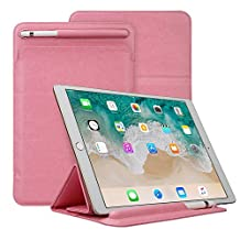 iPad Pro 10.5 Case,MeiLiio PU Leather Smart Cover iPad Case with Apple Pencil Holder Shockproof Elegant Ultra Slim Flip Book Folio Screen Protector for Apple iPad Pro 10.5 Tab (Pink)
