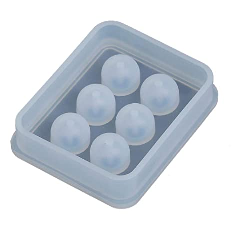 Fyore silicona Bead molde redondo cuadrado colgante de moldeo resina Moldes para hacer DIY de joyería
