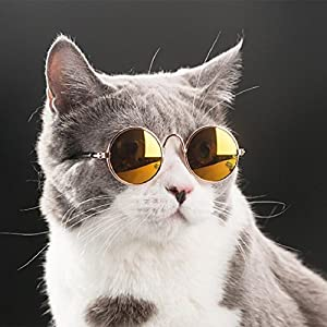 Naladoo Pet Cat Dog Fashion Sunglasses UV Sun Glasses Eye Protection Wear