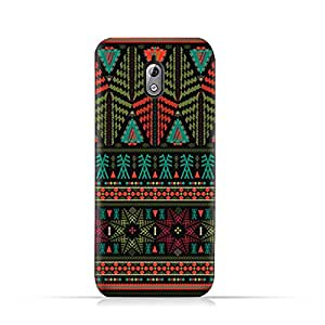 AMC Design Nokia 3.1 2018 TPU Silicone Protective Case with Ethnic Grunge Neon Pattern
