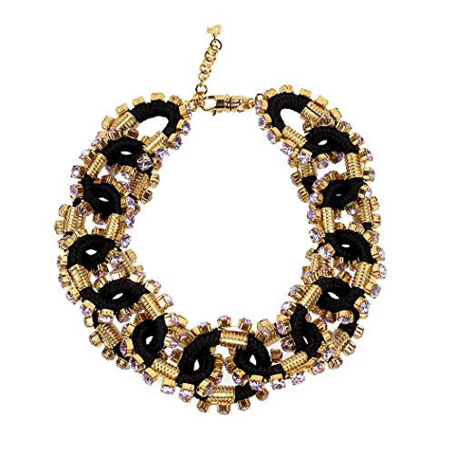 Women's Accessories Dsquared2 Crystalized Cable Black Gold Necklace Spring Summer 2019