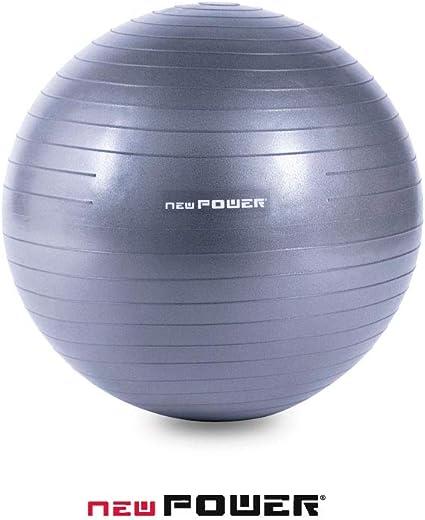 NEWPOWER - Pelota de Ejercicio Fitball 55cm, Anti-pinchazos y ...