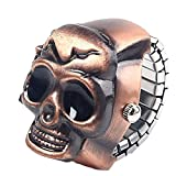 chenJBO Halloween Ring Watch 8MM Silver Gold Unisex Skull Ring Watch Adjustable Elasticity Clamshell Watch Jewelry