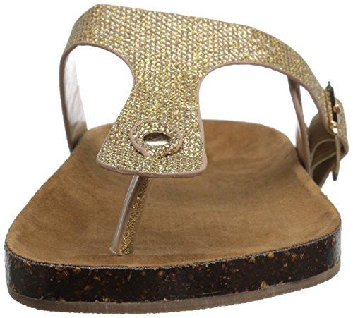 Wanted Frauen Gold Sandalen Flache Shoes a4xTwqHC