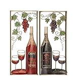 Deco 79 23490 Metal Wall Decor, Wine Red/Smoky Gray/Green/Black/Brown