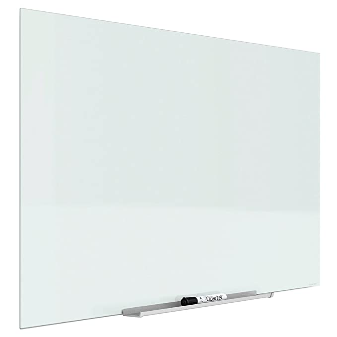 Quartet Magnetic Whiteboard, Glass White Board, 50
