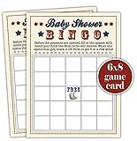 Baseball Bingo - Baby Shower Bingo Game for a boy - Set of 20