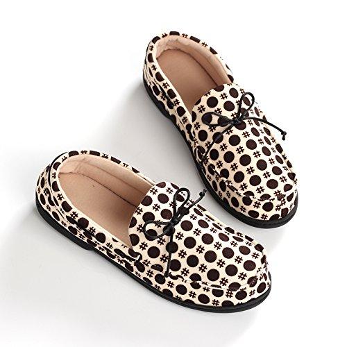 Aemember zapatos primavera y verano bolsas con fondo blando Antideslizante Thin interiores domésticos Ocio zapatillas de algodón grandes astilleros,38-39,beige 38-39|Beige