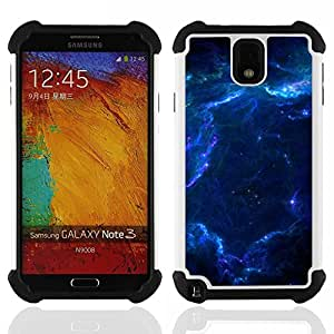 King Case - nebula galaxy stardust blue universe gas - Cubierta de la caja protectora completa h???¡¯???€????€?????brido Body Armor Protecci&Atil