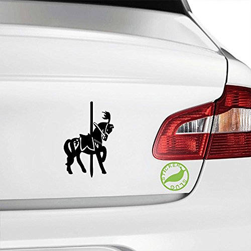 Carousel Ride Horse Decal Sticker (black, 5 inch)