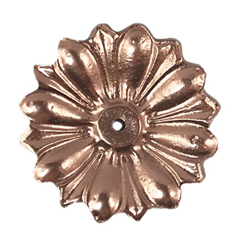 (Antique Knob Back Plate (5 COLORS) Solid Metal Flower Shaped Decorative for Knobs, Pull (Copper))