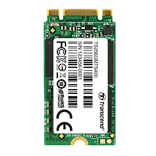 Transcend 256GB SATA III 6Gb/s MTS400 42 mm M.2 SSD Solid State Drive (TS256GMTS400) by Transcend