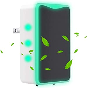 Air Purifier for Office and Home Smoke and Pets Odor, Direct Plug-in Portable Ionic Air Purifier Travel-Size Smoke Purifier 1 Pack
