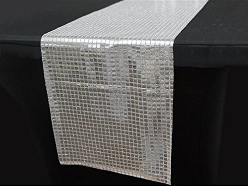 Generic Shiny Mirror Foil on Tulle Table Runner by Generic