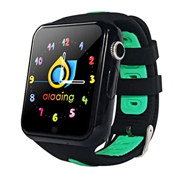 FGKING Reloj Inteligente para niños, Reloj Inteligente para niñas Chicos, localizador GPS podómetro Fitness Tracker Pantalla táctil SOS cámara Anti perdido ...