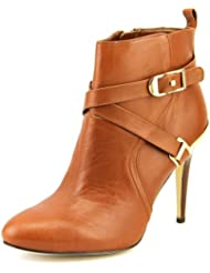 Marc Fisher Aprille Women Round Toe Leather Brown Ankle Boot