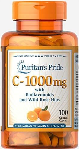 Puritan's Pride Vitamin C-1000 mg with Bioflavonoids & Rose Hips-100 Caplets