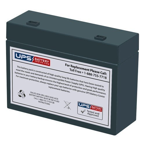 12V 5.5Ah Compatible Battery Replacement for APC Back UPS Office BF250 BF280, RBC10, HC1221W by UPSBatteryCenter® UPS Battery Center 12V-5.5Ah-UPS-batt