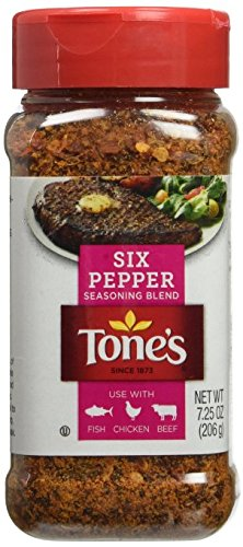 3 X 7.25 Oz Tone's Six Pepper Seasoning Blend