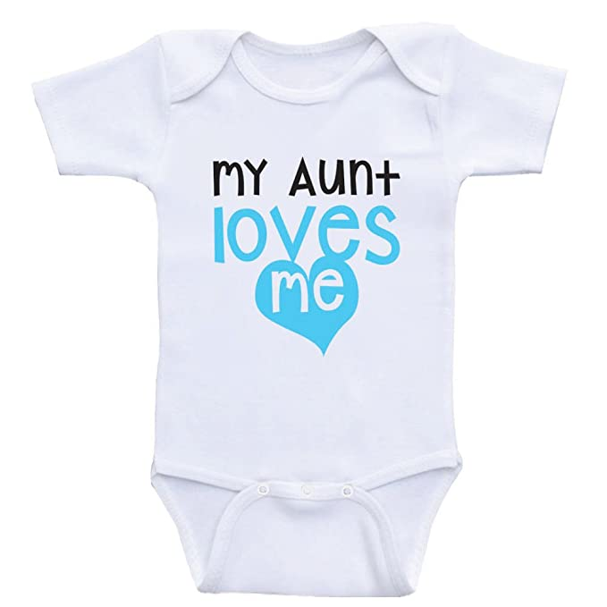 ef1753d18800a Aunt Baby Onesies I Love My Aunt Cute Baby One-Piece Bodysuits (3mo-. Roll  over image to zoom in. Heart Co Designs