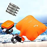 Anti-drowning Bracelet, Floating Wristband,  Swimming Safety Device, Water Aid Lifesaving Vests, Wearable Water Buoyancy Aid Device- Inflatable Gasbag with 4 Cartridges/ Shipped from USA