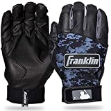 Franklin Sports MLB Digitek Baseball Batting Gloves - Black/Black Digi - Adult Small