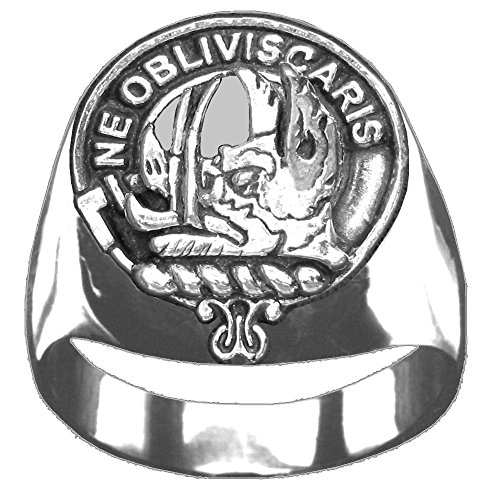 Scottish Clan Crest Campbell (Argyll) Ring GC100 Style by Celtic Studio