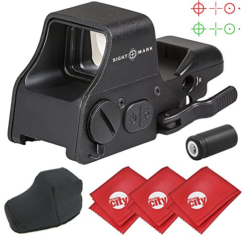 Sightmark Ultra Shot Plus Reflex Red/Green Dot Rifle Sight with 3 Microfiber Cleaning Cloths (Ultra Red Dot)