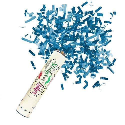 Review Baby Gender Reveal Party Supplies Decorations- Confetti Cannon, Popper, Stick, Balloon, Stach...