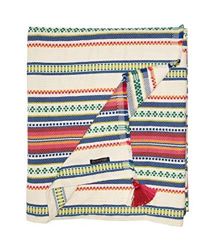 Pendleton Unisex Cotton Jacquard Throw Paloma Stripe Bright One Size
