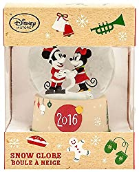Disney Mickey Mouse & Minnie Mouse Snowglobe- Holiday...