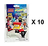 Mega Bloks Spongebob Squarepants Series 1 Mini Figures Blind Bag Party Favours - Pack of 10