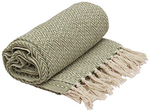 SouvNear Throws - 65 x 52 Inch Hand-Woven 100% Cotton Throw