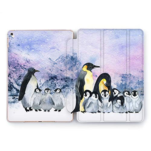 Wonder Wild Polar Penguin iPad Case 9.7 Pro inch Mini 1 2 3 4 Air 2 10.5 12.9 2018 2017 Design 5th 6th Gen Clear Print Smart Hard Cover Mountain Snow Ice Animals King-Emperor Flightless Bird Parents]()