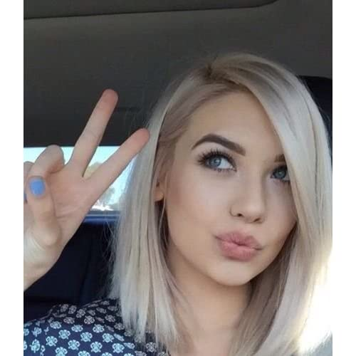 Low Cost Short Bob Hair Silver Platinum Blonde Lace Front Lace Wigs