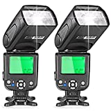 Neewer Two i-TTL Flash Speedlite for Nikon DSLR Camera Such as D7200 D7100 D7000 D5200 D5100 D5000 D3000 D3100 D300 D700 D600 D90 D80 D70 D70S D60 D50(NW-562)
