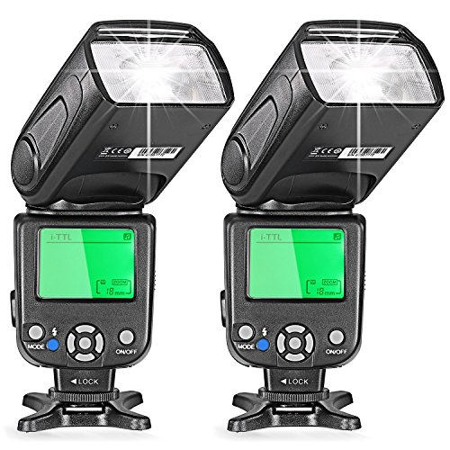 Neewer® Two i-TTL Flash Speedlite for Nikon DSLR Camera Such as D7200 D7100 D7000 D5200 D5100 D5000 D3000 D3100 D300 D700 D600 D90 D80 D70 D70S D60 D50(NW-562) by Neewer