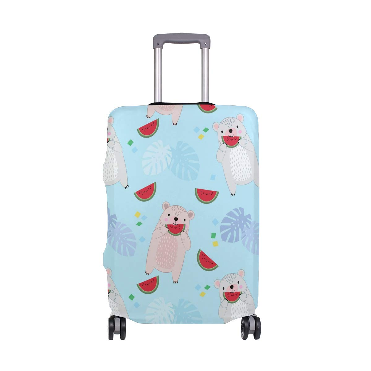 Travel Luggage Cover Cute Cartoon Animal Bear Water Melon Elastic Suitcase Protector Washable Baggage Covers Fits 18-32 inch
