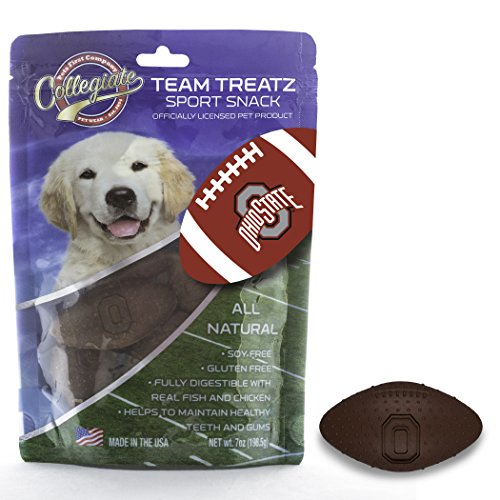 - Pets First Collegiate Pet Accessories, Dog Treats, Ohio State Buckeyes, 7 Oz