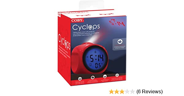Amazon.com: Coby CBC-54-RED Talking Alarm Clock with Led Projector (Red): Home Audio & Theater