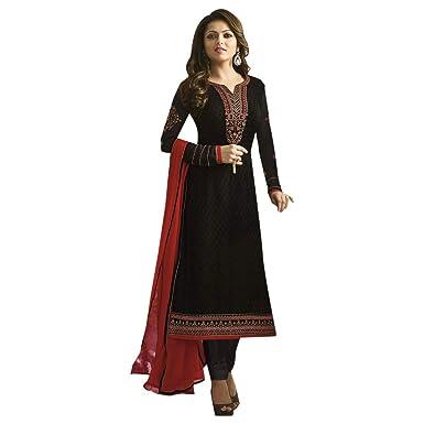 afcd5cca0a SHRI BALAJI SILK & COTTON SAREE EMPORIUM Indian/Pakistani Ethnic Party wear  Black Brasso Embroidery