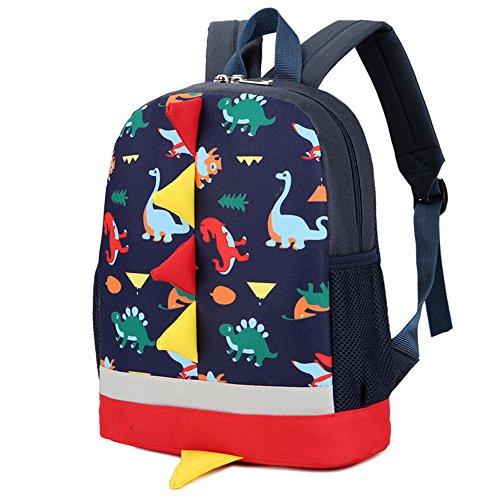 Bambini Zaini Scuola Borse Dinosauro Bambino Piccolo Ragazzi Ragazze Daypacks 1-6 Anni Blu scuro