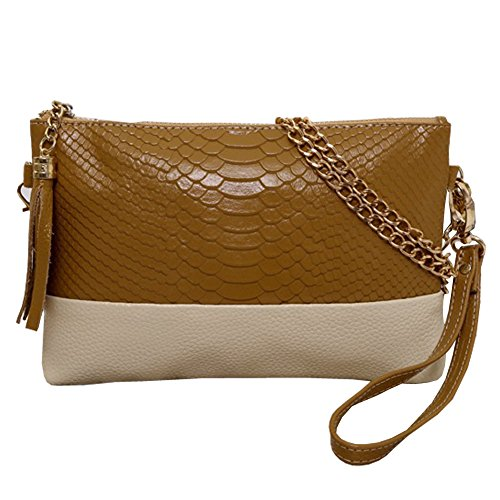 Top Shop Womens Leather Alligator Totes Messenger Shoulder Bags Handbags Hobos Khaki Satchels