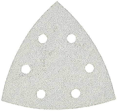 Bosch SDTW062 3-1/2 In. 60 Grit 25-Piece White Detail Sander Abrasive Triangles for Paint (Bosch Multi Sander)