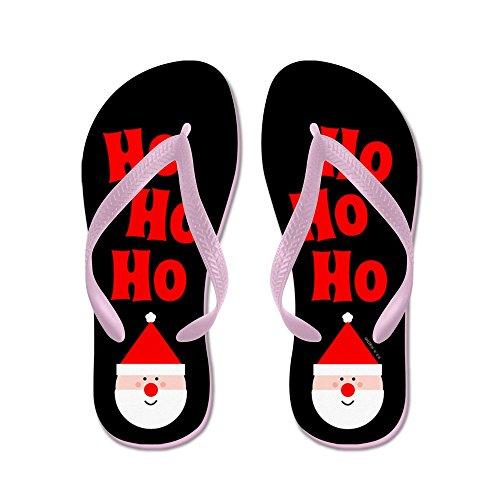 Cafepress Ho Ho Ho - Flip Flops, Grappige String Sandalen, Strand Sandalen Roze