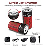 CR123A Rechargeable Batteries, EaseBuy 8-Pack 700mAH RCR123A 3.7V Lithium ion Camera Battery Compatible with Arlo Cameras, Security System, Led Flashlight